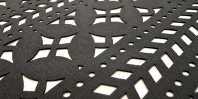 taglio tessuto laser