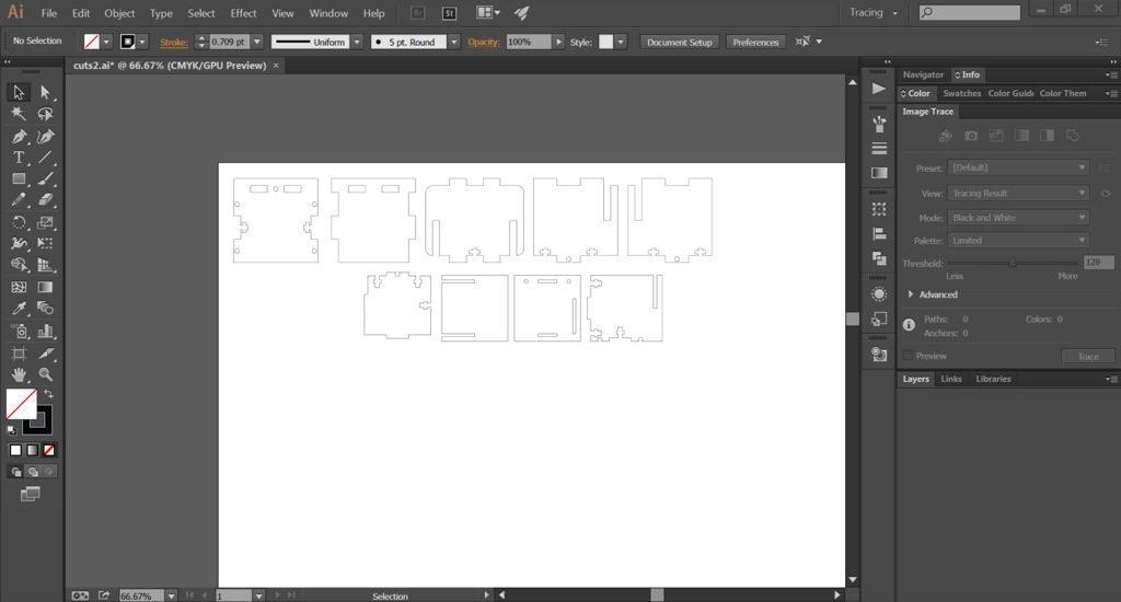 illustrator software per taglio laser