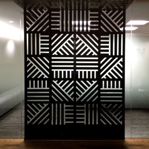 pannello decorativo in legno e plexiglass
